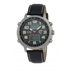 Solar Drive Funk Herrenuhr Hunter II World Timer EGS-11301-21L