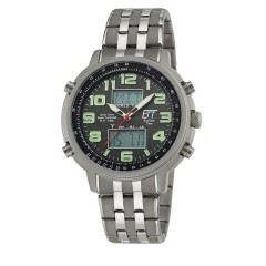 Solar Drive Funk Herrenuhr Hunter II World Timer EGS-11302-22M
