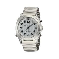 Funk Quarz Herren Sprechende Uhr Metall MTGA-10633-11M
